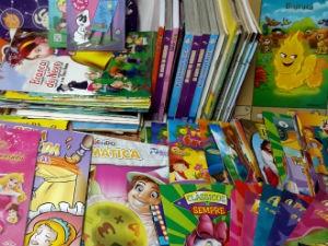 600 livros foram arrecadados no FGP (Foto: Reprodução/ TV Gazeta)