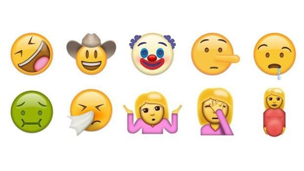 Entre os novos símbolos está o emoji assoando o nariz, a carinha com náusea e o palhaço (Foto: Divulgação/Emojipedia)