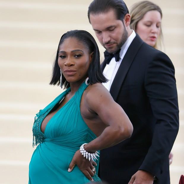 Serena Wiliams e seu noivo, Alexis Ohanian  (Foto: John Lamparski/Getty Images)