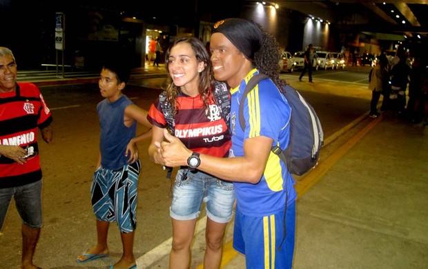 Sósia de R10 - Flamengo (Foto: Richarad Souza /Globoesporte.com)