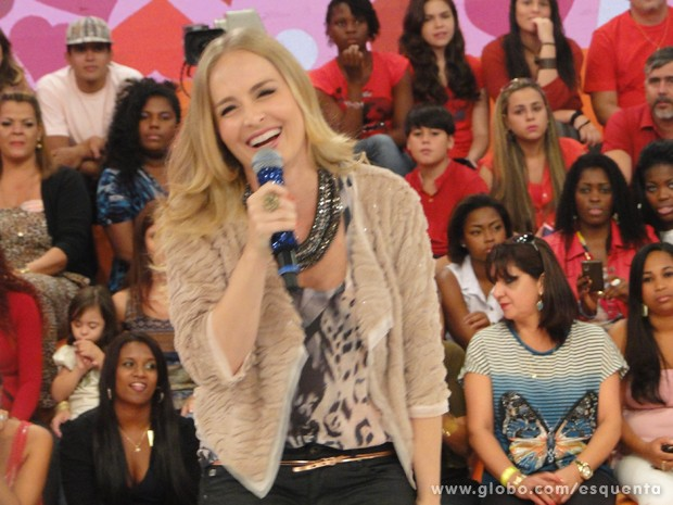 Muito estilosa, Angélica grava o Esquenta! (Foto: TV Globo/ Esquenta)
