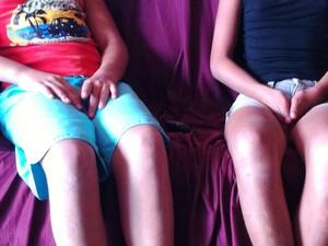Meninas de 12 e 11 estariam sendo abusadas por padrasto há 3 anos (Foto: Michelly Oda / G1)