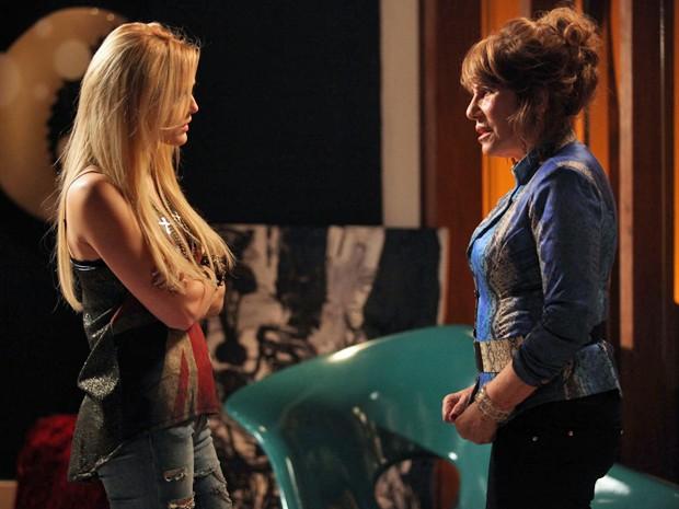 Tira sai pela culatra e Megan diz que apoia Pamela  (Foto: Pedro Curi / TV Globo)