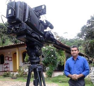 Marcos Teixeira traz informações sobre o campo no Clube Rural (Foto: Milena Sousa/TV Clube)