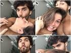 Deborah Secco faz caras e bocas ao lado do marido, Hugo Moura
