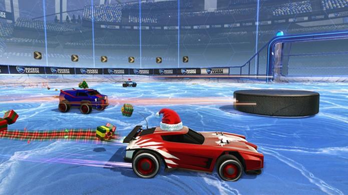 Snow Day trouxe divertidas partidas de hóquei para comemorar o inverno (Foto: Reprodução/Game Zone)