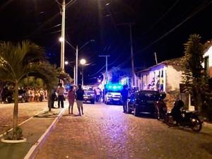 Rua onde ocorreu o crime em Lafaiete Coutinho, na Bahia (Foto: Blog Itiruçu Onlin)