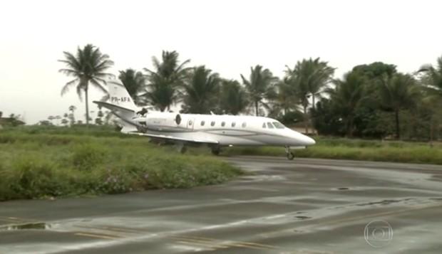 O jatinho Cessna PR-AFA que era usado por Eduardo Campos (Foto: Reprodução/TV Globo)