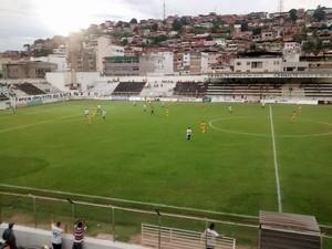 Mesmo com vitória, Saci não se classifcou para o Hexagonal do Módulo II do Mineiro (Foto: Pedro Samora / Globoesporte.com)