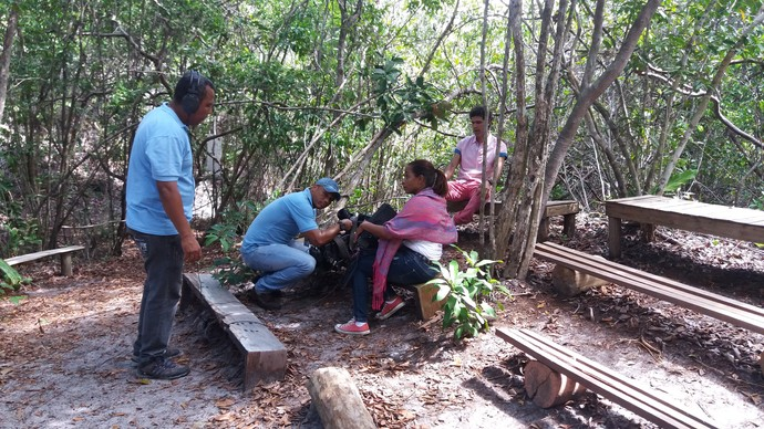 Bastidores Aprovado Parque das Dunas (Foto: TV Bahia)