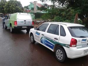 Operação da Receite Federal em Campo Grande (Foto: Osvaldo Nóbrega/ TV Morena)