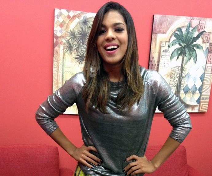 Tays Reis fala sobre imitações nos bastidores do 'Mais Você' (Foto: Melina Mantovani / Gshow)