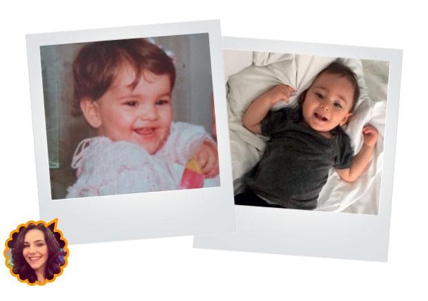 A bebê Tainá não era de comer muito, já o filho Martin, de 1 ano e meio, é bom de garfo. (Foto: Reprodução/Instagram e arquivo pessoal)