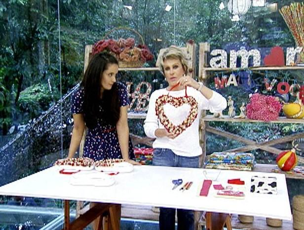 Artesanato para o Dia dos Namorados (Foto: Mais Você / TV Globo)