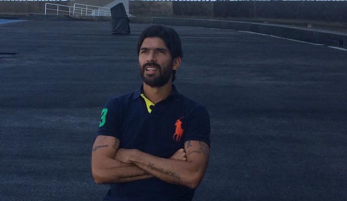 Loco Abreu em entrevista para o Esporte Espetacular (Foto: Renata Amaral)