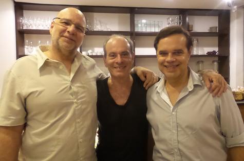 Marcus Alvisi recebeu Ney Matogrosso e Diogo Vilela (Foto: Milena Fortes)