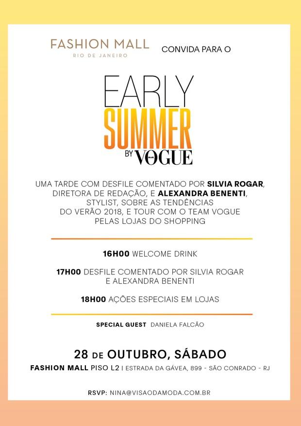 Desfile Early Summer by Vogue (Foto: Divulgação)