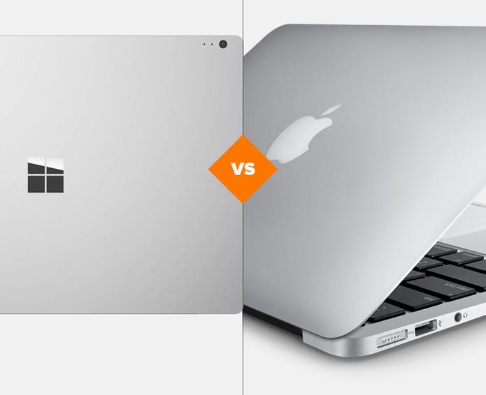 Comparativo entre Surface Book e MacBook 2013: qual top é melhor? (Foto: Arte/TechTudo)