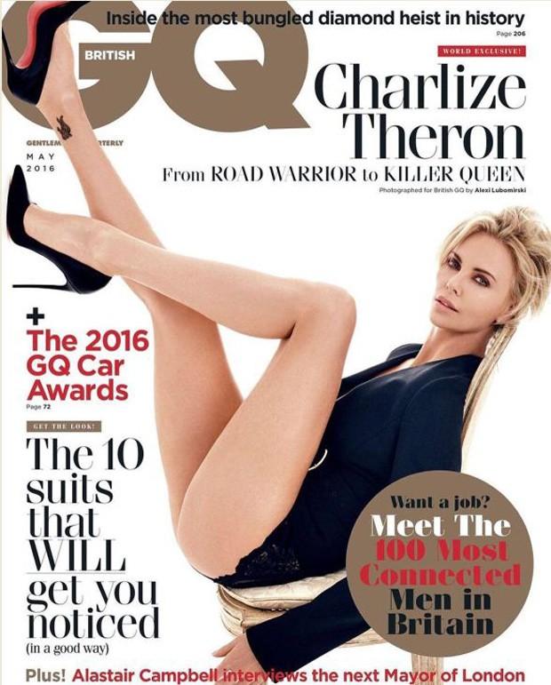 Charlize Theron na nova capa da GQ britânica (Foto: Reprodução)