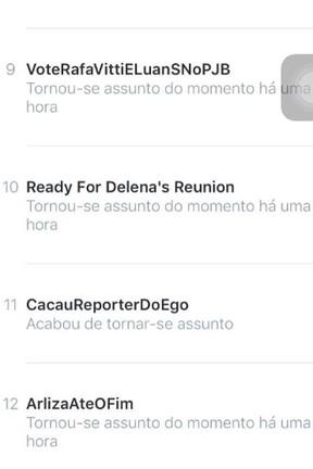 #CacauReporterdoEGO alcançara o Trending Topics (Foto: Reprodução)