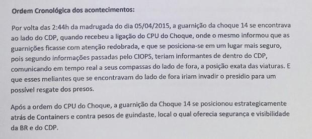 Relatório mostra que forças de segurança sabiam do ataque duas horas antes (Foto: Reprodução G1)