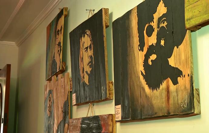 Algumas obras de arte de Milla Freitas (Foto: TV Morena)