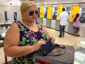 Filas bancos Porto Velho (Foto: Ana Fabre/G1)