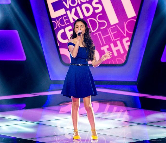 Vitória Lopes cantou 'Mais uma vez' com muita personalidade (Foto: Isabella Pinheiro/Gshow)
