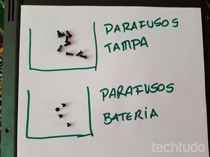 Organização evita extravio e mistura de parafusos diferentes (Foto: Filipe Garrett/TechTudo)