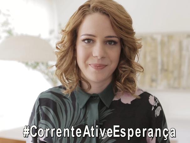 Leandra Leal em um dos vídeos da campanha sobre a rede do bem (Foto: Globo)