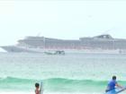 Passageira passa mal e transatlântico faz parada de emergência no RJ