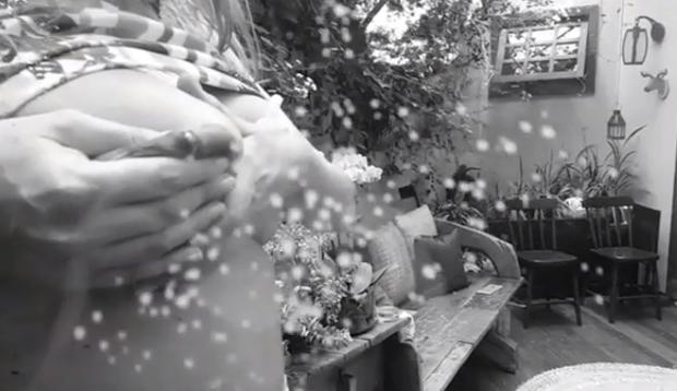 Rafa Brites postou vídeo de seio espirrando leite materno (Foto: Reprodução/ Instagram)