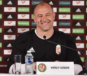Nagy e Kiraly na entrevista coletiva da Hungria (Foto: Tibor Illyes/MTI via AP)