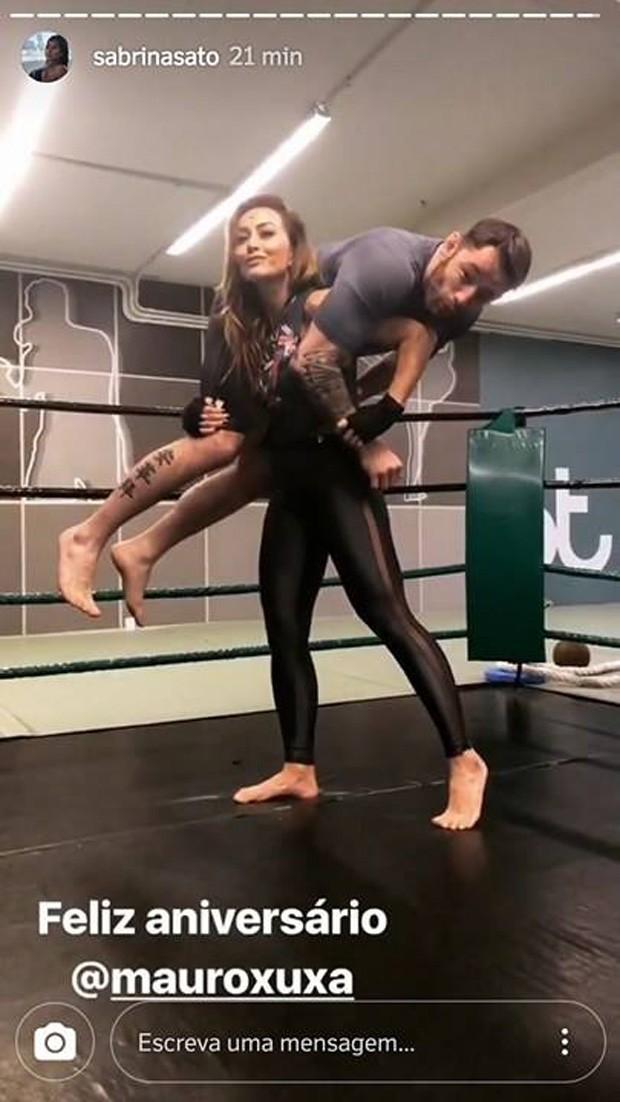 Sabrina Sato e o personal Mauro Chimento Junior (Foto: Reprodução/Instagram)