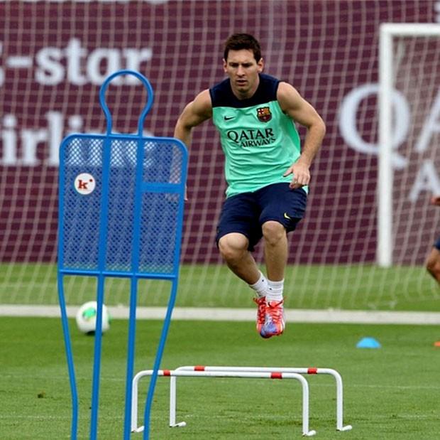 Lionel messi barcelona treino (Foto: Reprodução / Instagram)