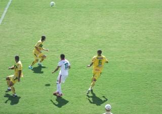 Lance do empate entre Mirassol e Velo Clube, pela Série A2 do Paulistão (Foto: Vinícius de Paula / Agência Mirassol)