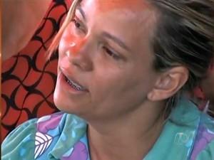 Rosana Dias Rocha, mãe de Gabrielly, em Uruana, Goiás (Foto: Reprodução/TV Anhanguera)