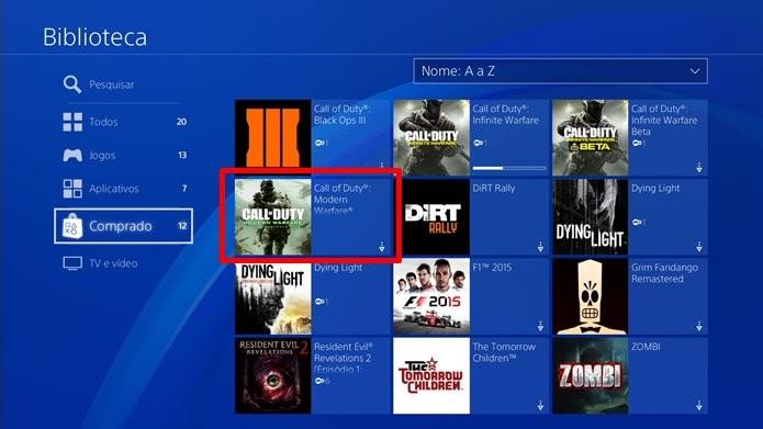 Remasterização de Call of Duty: Modern Warfare está disponível na PSN (Foto: Reprodução/Felipe Demartini)