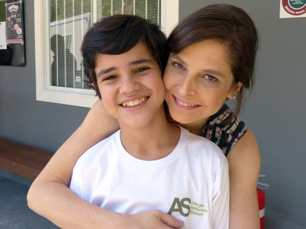 Ele ganhou apelido da xará: Drico (Foto: Império/TV Globo)