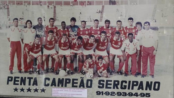 Sergipe, pentacampeão sergipano (Foto: Memorial/CSS)