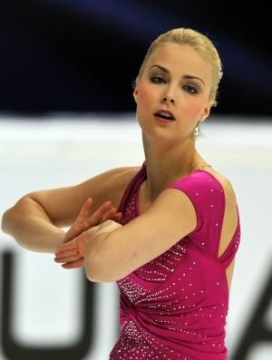 patinação artística no gelo Kiira Korpi no Grand Prix de Moscou (Foto: AFP)