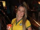 Carol Dantas, mãe do filho de Neymar, comemora vitória do Brasil em SP