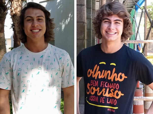 Francisco e o irmão Rafael (Foto: Rodrigo Brisolla/Gabriel Alberto/Gshow)