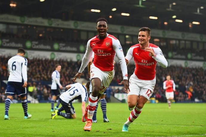 West Bromwich x Arsenal - Welbeck comemora gol (Foto: Getty)