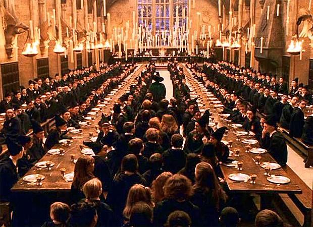 Grande Salão de Hogwarts apareceu nos filmes da série Harry Potter