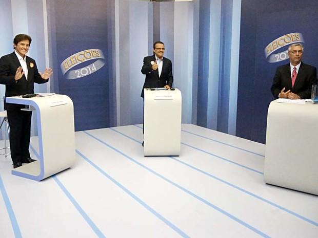 Debate do segundo turno na Inter TV Cabugi (Foto: Canindé Soares/G1)
