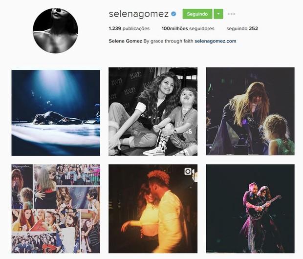 Selena Gomez bate recorde com 100 milhões de seguidores no Instagram (Foto: Instagram / Reprodução)