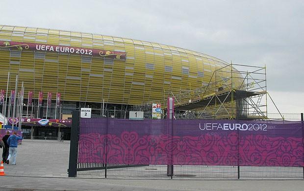 obras arena gdansk eurocopa 2012 (Foto: Victor Canedo / Globoesporte.com)