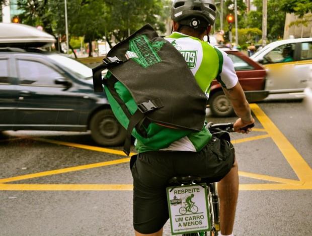 Entrega de bike (Foto: Divulgação)