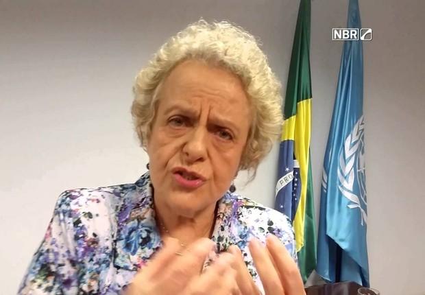 A ex-ministra Eleonora Menicucci (Foto: Reprodução/NBR)